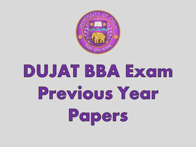DUJAT 2020 Previous Year Papers