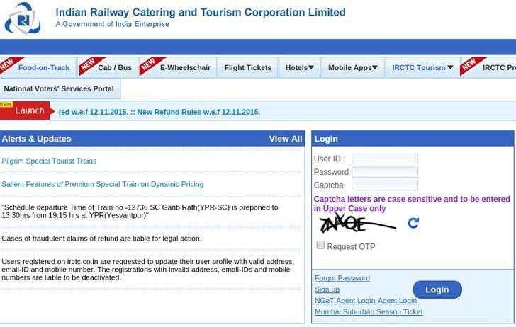 Fraud e-ticket booking in Indian railways