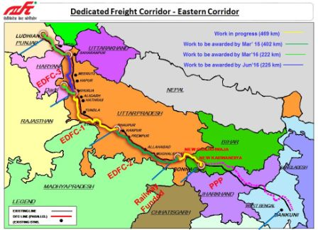 eastern dedicated freight corridor 3 route