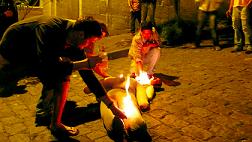 effigy burning at mid night