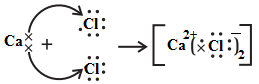 electron dot structure of calcium chloride
