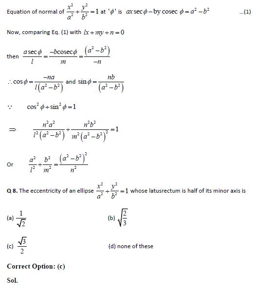 Ellipse practice question