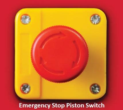 emergency stop piston