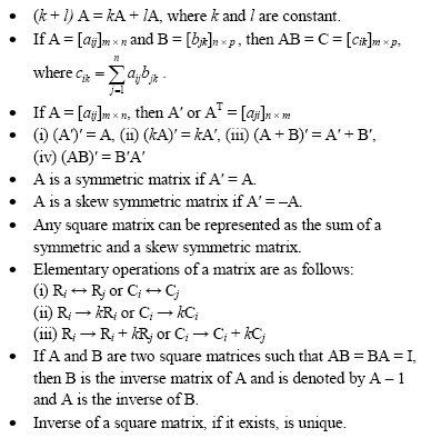 Matrices and Determinants – Important Questions and
