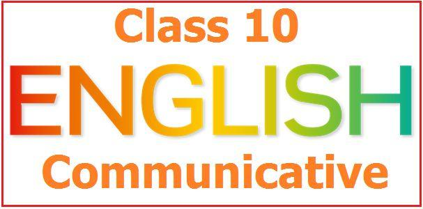 CBSE Class 10 English (Communicative) Sample Paper 2018