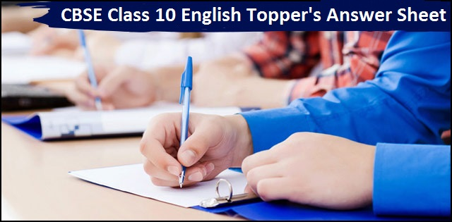 CBSE Class 10 Topper's Answer Sheet for English (Communicative) Paper 2018
