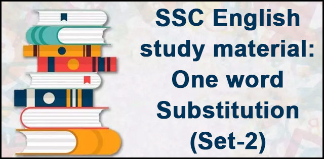 SSC English study material