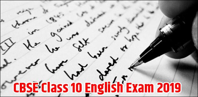 CBSE Class 10 English Board Exam 2019