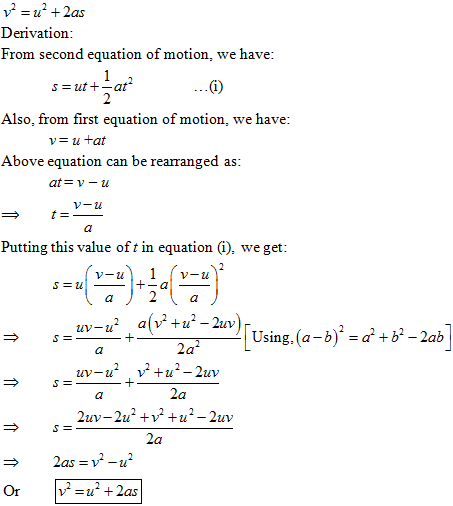 Equations Of Motion – Name