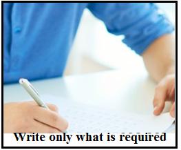 write apt answer