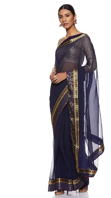 Floral Trendz Chiffon with blouse piece saree
