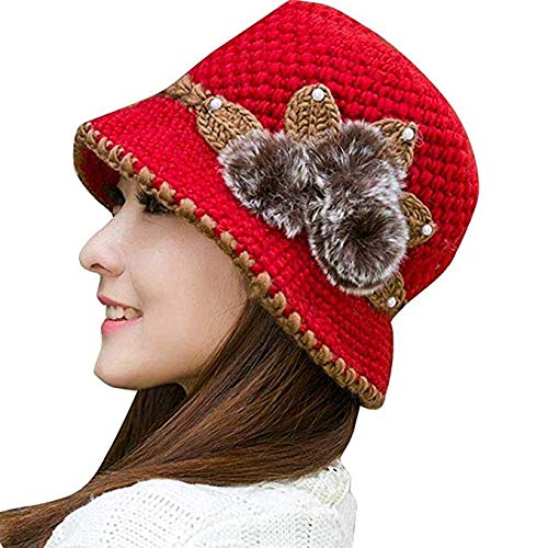 Flower knit cap