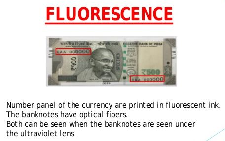 fluorescence features 2000 note