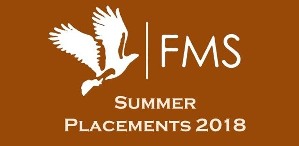 FMS Delhi Summer Placements 2018