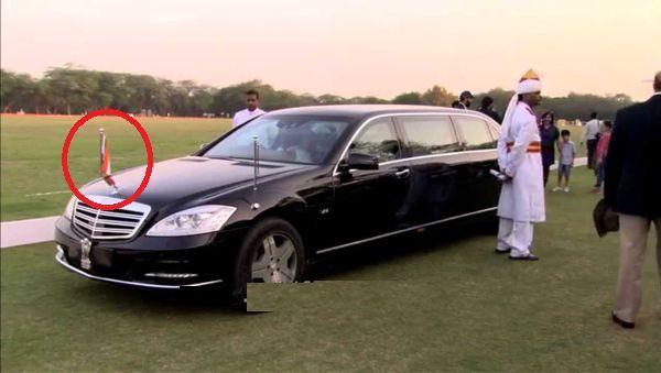 foreign car using ashok emblem india