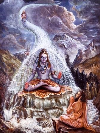 ganga flowing from shiv jata