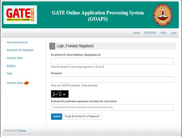 Gate 2019 Result News: GATE 2019 Scorecard Released By IIT Madras, Download From