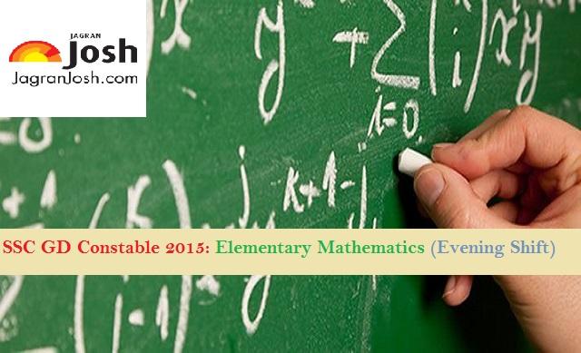 Ssc gd constable 2015 elementary maths paper evening shift ssc constable maths paper fandeluxe Gallery