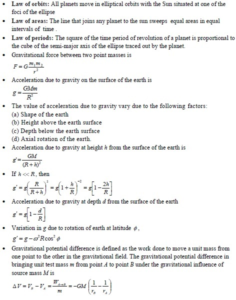 UPSEE gravitation concepts 1