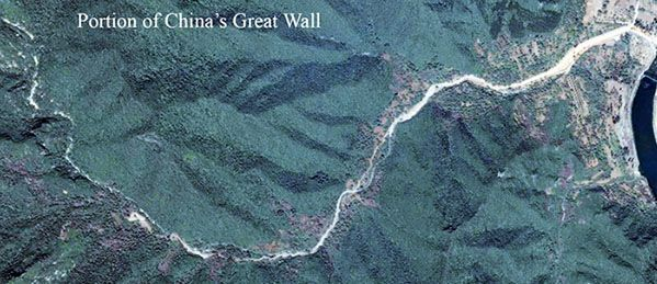 great wall china space