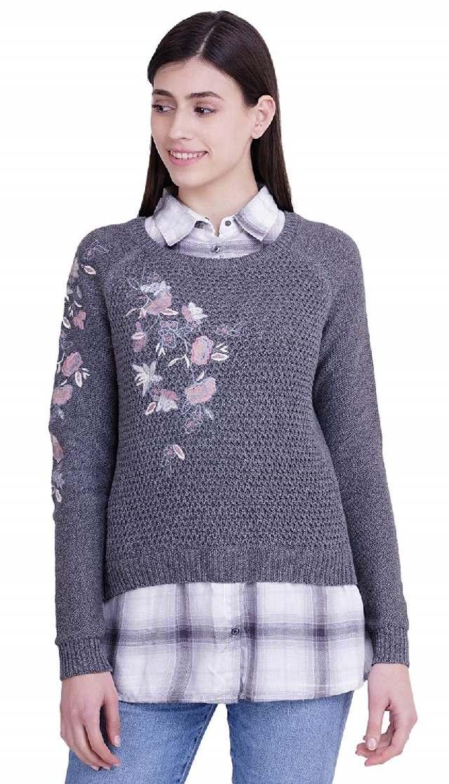 Collar style neck sweater