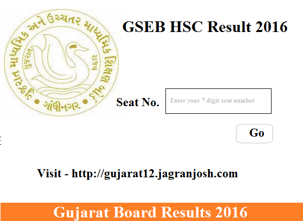 gseb 12th general stream result 2016