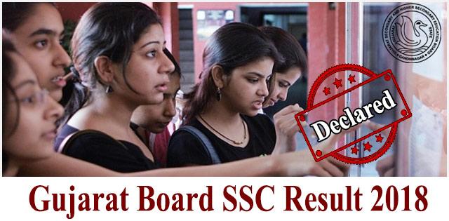 GSEB SSC Result 2018: Gujarat Board Class 10th Result 2018