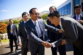 handshake in korea