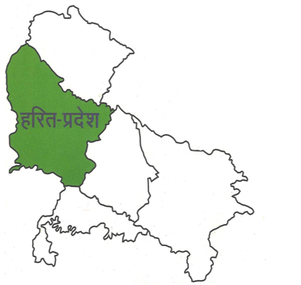 harit pradesh map