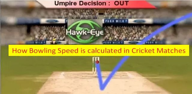 How bowling speed is calculated in cricket matches
