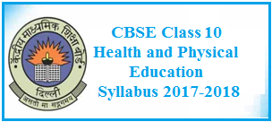 CBSE Class 10: Health and Physical Education Syllabus