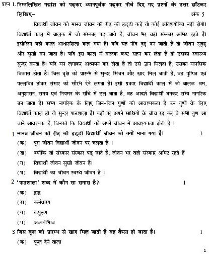 Cbse class 10 sa1 question papers – hindi | aglasem schools.