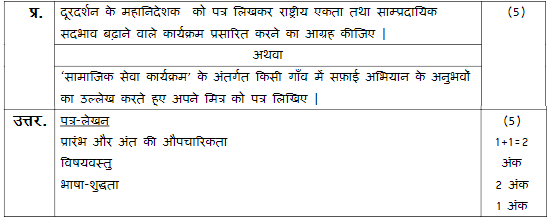 hindi a sample paper 2019