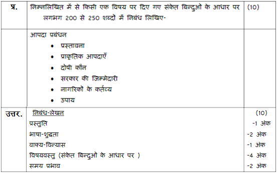 class 10 hindi a sample paper