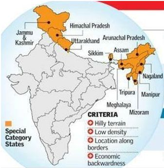 how special status to indian states