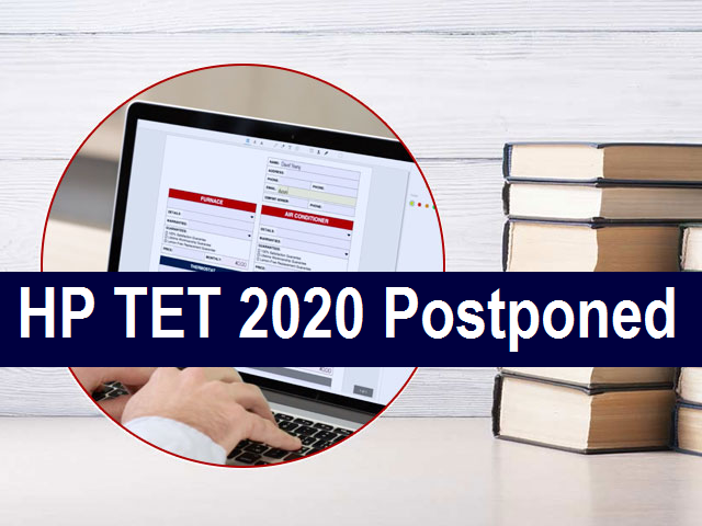 HP TET 2020 Postponed