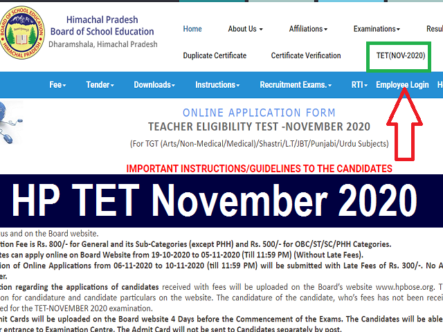 HP TET November 2020