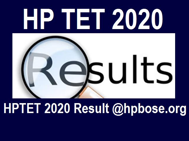 HPTET 2020 Result