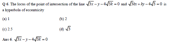 Hyperbola practice question