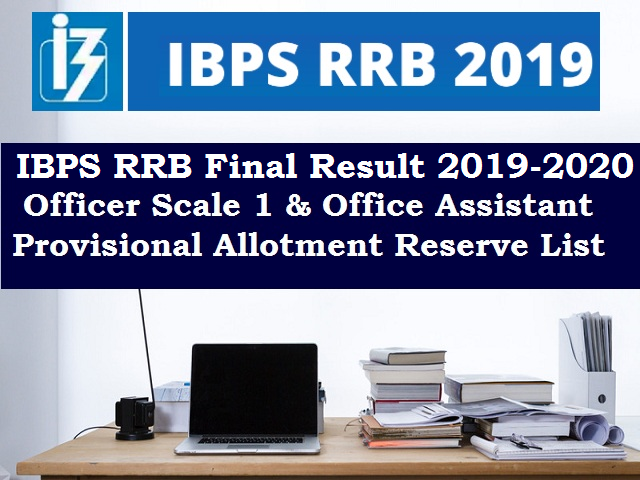 IBPS RRB Provisional Merit List and Final Results 2020