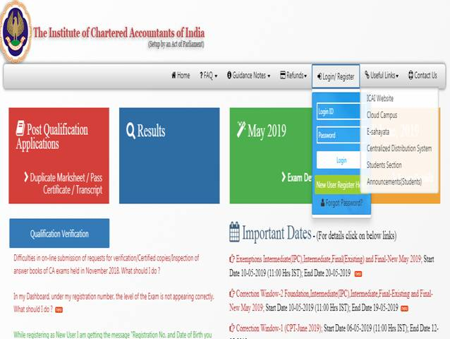 ICAI Admit Card 2019 released online, download at icaiexam icai org