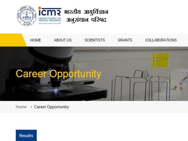 ICMR NICPR Recruitment 2020 for Technical Officer/Technician and other Posts @main.icmr.nic.in