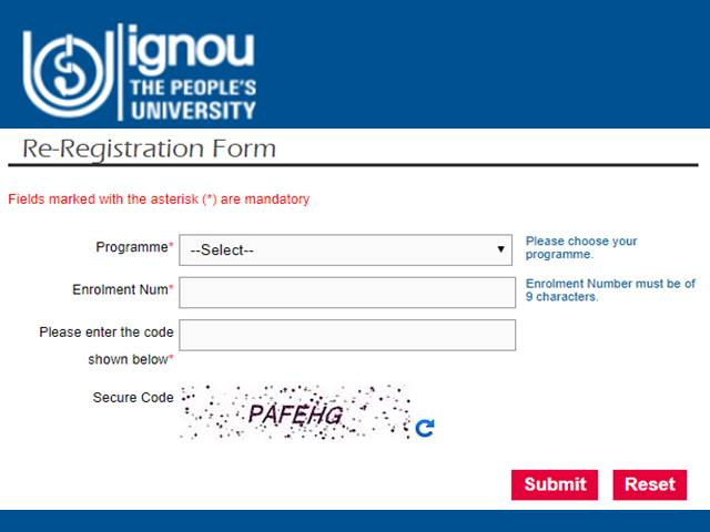 Ignou Starts Re Registration Process For July Session Register Via Samarth Portal At Ignou Samarth Edu In
