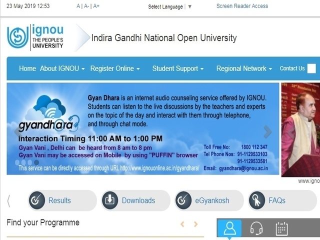 Ignou To Start Post Graduate Diploma Course In Computer Applications