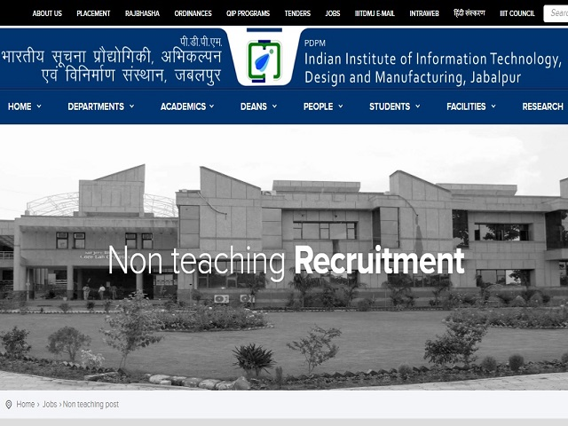 Hindi - IIIT, Jabalpur Recruitment 2019 for 31 Non-Teaching