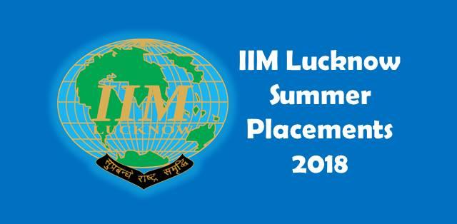 IIM Lucknow Summer Placements 2018