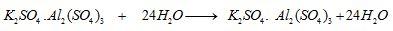 chemical properties of alum