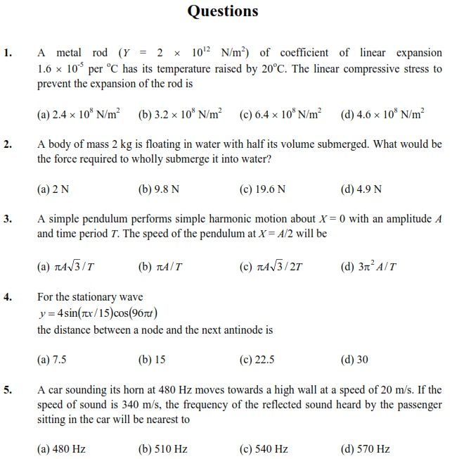 Jee Main Solved Engineering Physics Paper Set-X