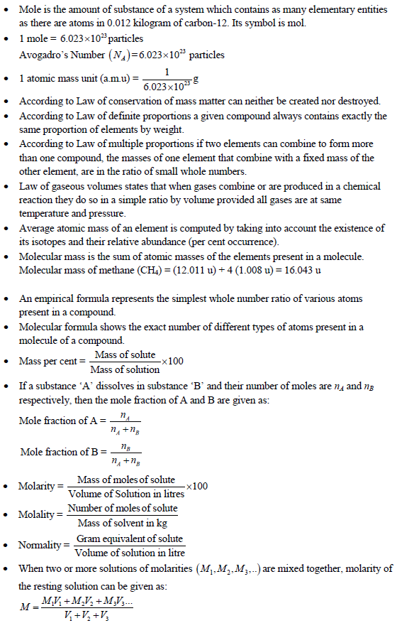 UPSEE Basic Concepts of Chemistry