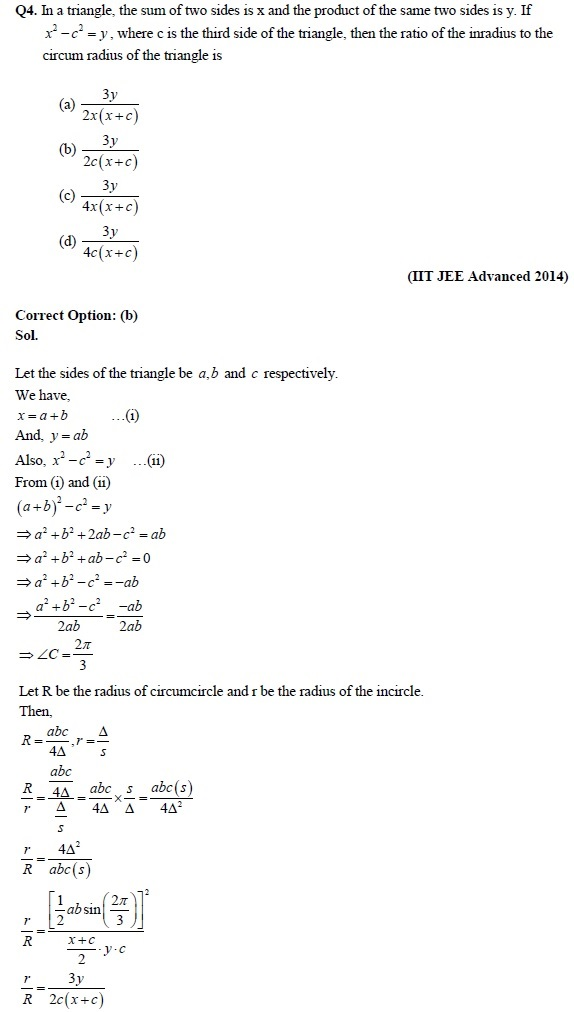 Trigonometric Functions – JEE Important Questions